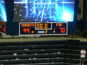 The final score of the MU vs. FIU game