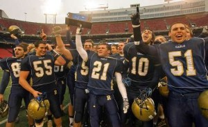 The Roxbury Gaels celebrate after winning the North 1, Group IV state sectional title (photo from the Daily Record)