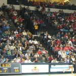 Lots of red shirts in that crowd...