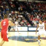 Blurry Jordan Davis on defense