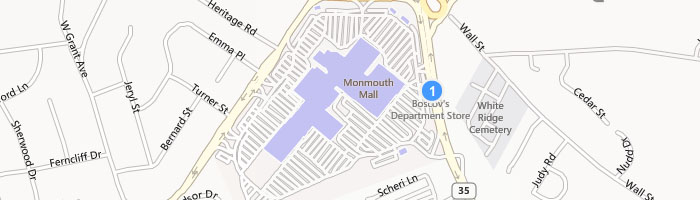 I go to a gym in the basement of the Monmouth Mall in Eatontown.