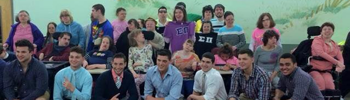 My Delta-Beta Chapter guys at a fashion show they put together for autistic students.